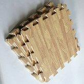 Children's Rugs Used Daycare Carpet Wood Interlock Square Puzzle Floor Exercise GYM Mat Kids Play Room Foam Beige 29.5x29.5cm 9sqft of Set