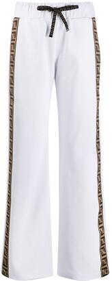 Fendi FF motif stripe track pants