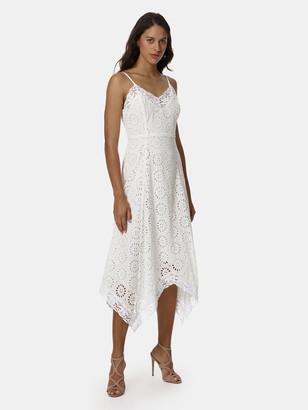 Stellah Eyelet Handkerchief Hem Dress