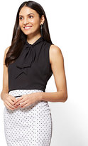 New York & Co. 7th Avenue - Tie-Front Sleeveless Blouse - Modern