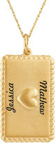 JCPenney FINE JEWELRY Personalized 14K Yellow Gold Rectangular Puffed Heart Pendant Necklace