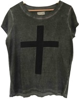 Eleven Paris Grey Cotton Top for Women