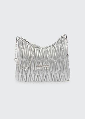 Miu Miu Metallic Matelasse Crossbody Bag