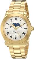 Salvatore Ferragamo Men's 'FERAGAMO 1898' Quartz Stainless Steel Casual Watch, Color:Gold-Toned (Model: FBG070016)