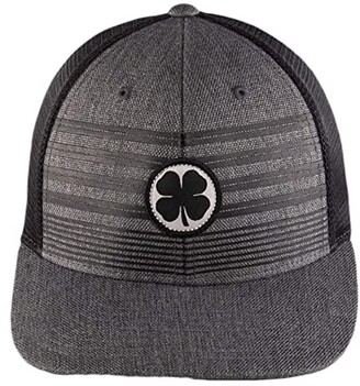 Black Clover Band Of Brothers Adjustable Hat (Black Clover/Charcoal/Black) Baseball Caps