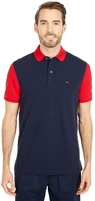 Tommy Hilfiger Adaptive Custom Fit Flag Stars Polo (Sky Captain/Multi) Men's Short Sleeve Pullover