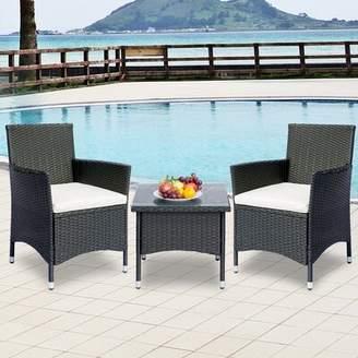 Aditi Patio 3 Piece Seating Group with Cushions Latitude Run