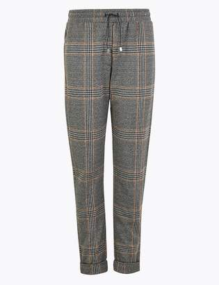 M&S CollectionMarks and Spencer Checked Tapered Ankle Grazer Trousers