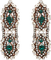 Shourouk Crystal-embellished clip-on drop earrings