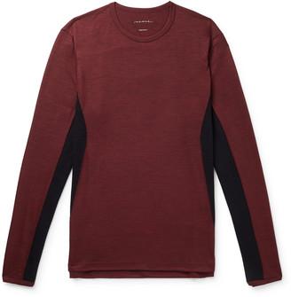 Sease Mesh-Panelled Melange Virgin Wool T-Shirt