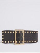M&S Collection Faux Leather Stud Waist Belt