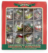 Lord & Taylor Winter Charms 12-Piece Christmas Ornament Set