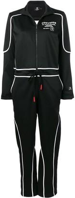 Converse logo zipped jumpsuit