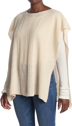 Johnny Was Thea Cable Knit Cashmere Blend Poncho