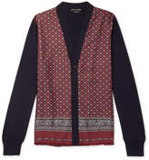 Alexander McQueen - Panelled Wool-Blend and Printed Silk-Twill Cardigan