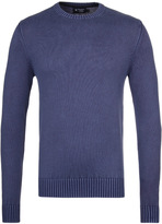 Hackett Gmd Denim Blue Crew Neck Sweater