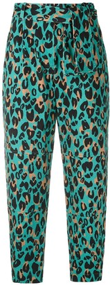 Nk Geisa animal print cropped trousers