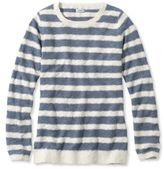 L.L. Bean Textured Cotton Sweater, Pullover Crewneck Stripe