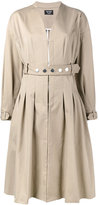 Creatures of the Wind collarless belted coat - women - Silk/Cotton/Polyamide - 4