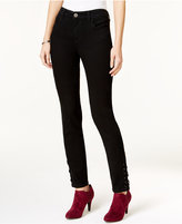 Style&Co. Style & Co. Lace-Up-Hem Black Rinse Ankle Jeans, Only at Macy's