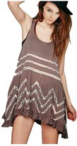 CA Mode CA Fashion Women's Sleeveless Polka Dot Lace Asymmetrical Dress Sundress
