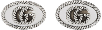 Gucci Silver Double G Marmont Cufflinks