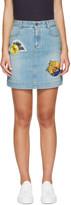 Stella McCartney Blue Denim Surf Patch Miniskirt