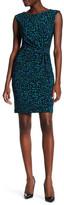 Anne Klein 10635970 Sleeveless Multi-Color Bateau Dress