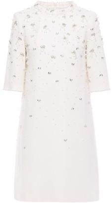 Goat Alexa Embellished Wool-crepe Mini Dress