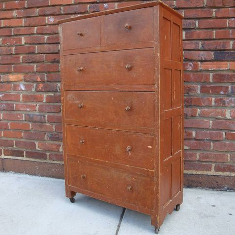 A Virgo's View Folk Art Chest Of Drawers