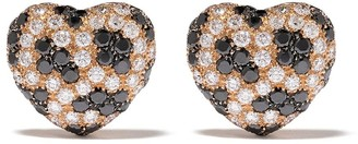 Leo Pizzo 18kt rose gold Leopard heart diamond earrings