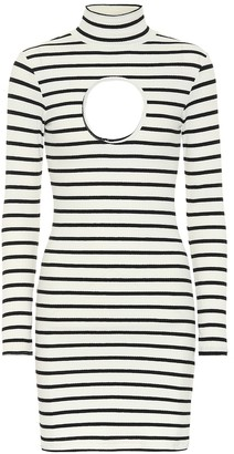 Vetements Striped stretch-jersey minidress