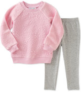 Kids Headquarters Baby Girls' 2-Pc. Faux-Fur Sweatshirt & Leggings Set