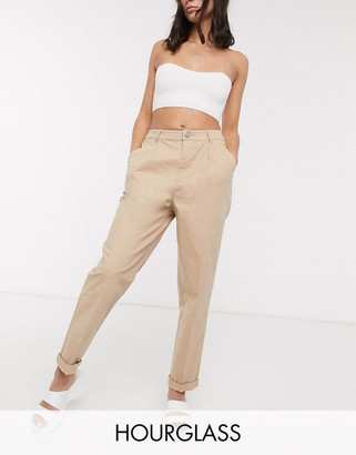 ASOS DESIGN Hourglass chino trousers in stone