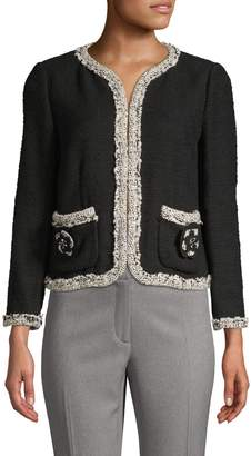 Rebecca Taylor Braided Cotton Tweed Jacket