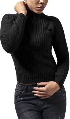 Urban Classics Women's Ladies Short Turtleneck Sweater