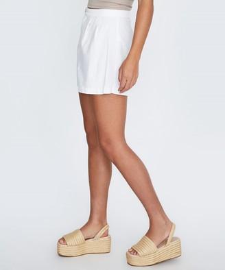 Subtitled Tayla Linen Shorts White