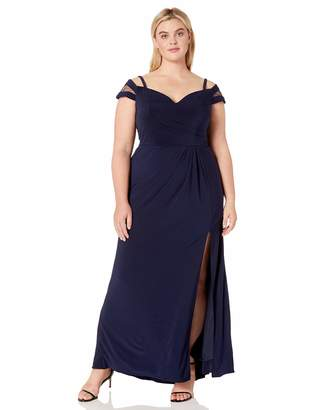 Xscape Evenings Plus Size Women's Long Off The Shoulder Dress