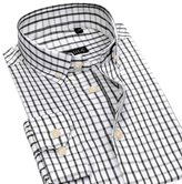 DreamMa Mens Slim Fit Plaid Dress Shirts Button-Down Collar Long Sleeve Shirts