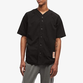 Rag & Bone Made in America Baseball Jersey (Black) Men's Clothing