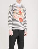 Gucci Floral-intarsia wool jumper
