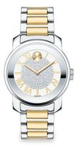 Movado Bold Luxe Crystal & Two-Tone Stainless Steel Bracelet Watch