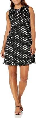 Tiana B Women's Petite Dot Aline Dress