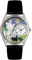 Whimsical Watches Women's S1220010 Halloween Ghost Black Leather Watch