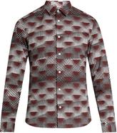Kenzo Nagai Star-print cotton-poplin shirt