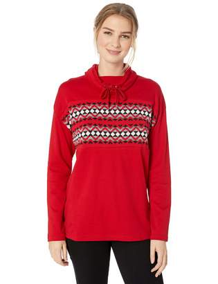 Chaps Women's Fashion Pull Over Cowl Neck Long Sleeve Sweater