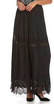 M.S.S.P. Tiered Lace Maxi Skirt