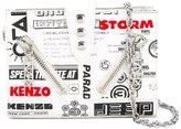 Kenzo Kalifornia flyers print chain wallet - women - Cotton/Calf Leather/Nylon/metal - One Size