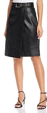 Just Female Mina Wrap Leather Skirt