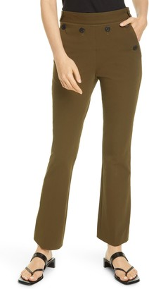 Helmut Lang Rider Stretch Cotton Ankle Flare Pants
